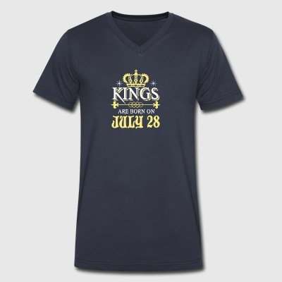 Kings Are Born On JULY 28 - Men's V-Neck T-Shirt by Canvas