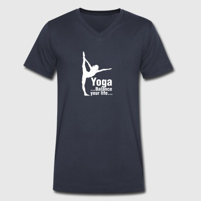 Yoga Balance Your Life T Shirt - Men's V-Neck T-Shirt by Canvas