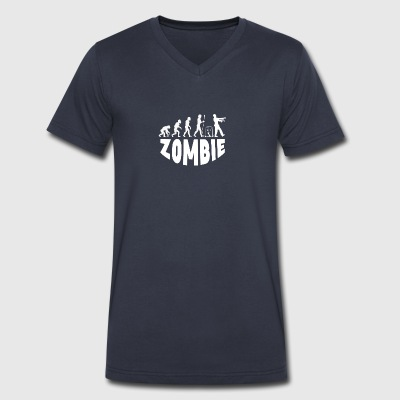 Zombie Evolution - Men's V-Neck T-Shirt by Canvas