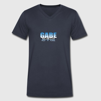Gabe The Dog - Men's V-Neck T-Shirt by Canvas