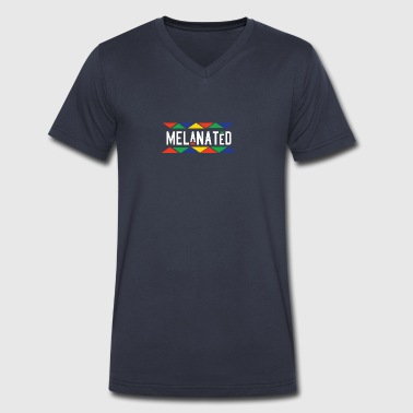 Melanated - Men's V-Neck T-Shirt by Canvas
