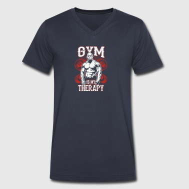 Gym Is My Therapy - Men's V-Neck T-Shirt by Canvas