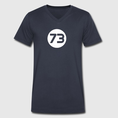 73 Distressed Circle - Men's V-Neck T-Shirt by Canvas