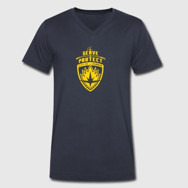 Nova Corps - Men's V-Neck T-Shirt by Canvas