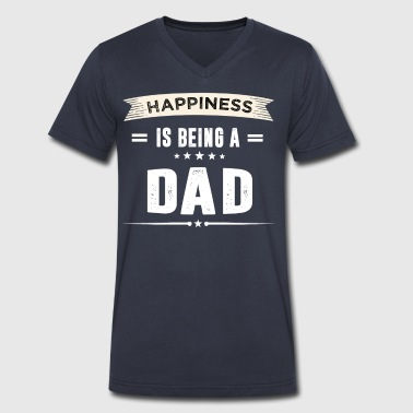 Happiness Is Being a DAD - Men's V-Neck T-Shirt by Canvas