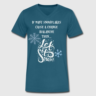 Progressive Snowflake Avalanche Shirt - Men's V-Neck T-Shirt by Canvas