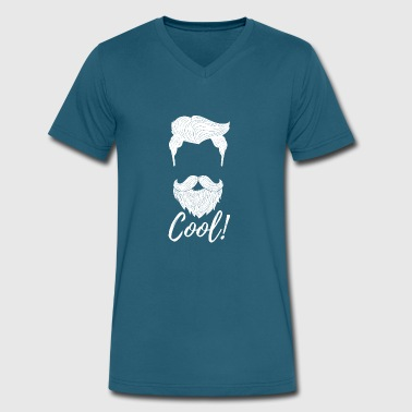 Cool Beard Hipster - Men's V-Neck T-Shirt by Canvas