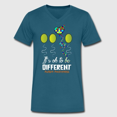 High Functioning Autism Love Autism Awareness Shirts - Men's V-Neck T-Shirt by Canvas