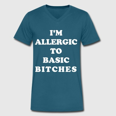 I'm Allergic To Basic Bitches - Men's V-Neck T-Shirt by Canvas