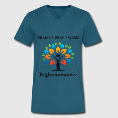 Righteousness Righteousness - Men's V-Neck T-Shirt by Canvas