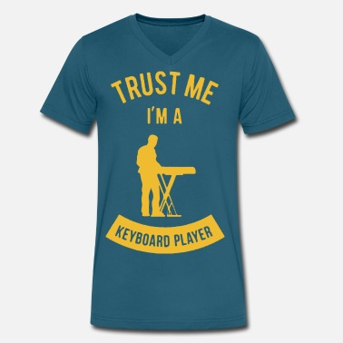 Keyboard Trust Me I m A Keyboard Player - Men's V-Neck T-Shirt by Canvas