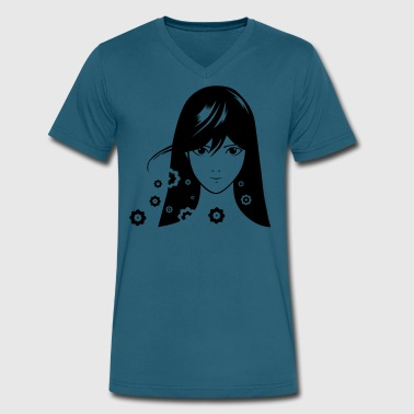 Comics Girl Girl Comic - Men's V-Neck T-Shirt by Canvas