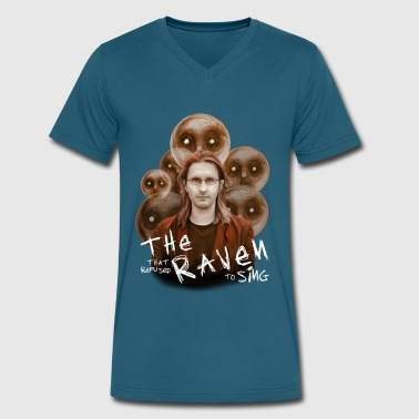 Raven And Moon Raven that refused - Men's V-Neck T-Shirt by Canvas