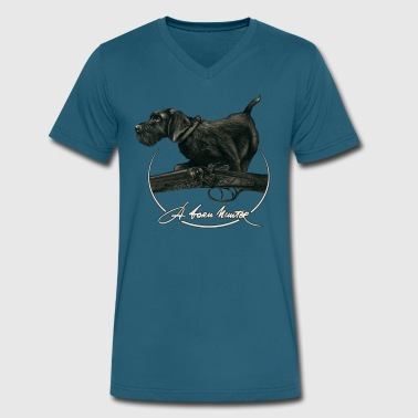 A Born Hunter - Men's V-Neck T-Shirt by Canvas