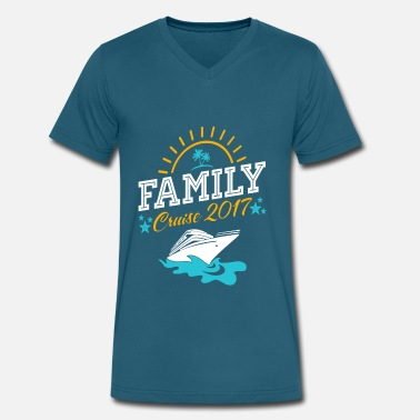 Carnival family cruise vacation t shirts - Men's V-Neck T-Shirt by Canvas