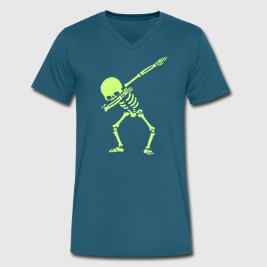 Dab On Dabbing Skeleton Dance - Men's V-Neck T-Shirt by Canvas
