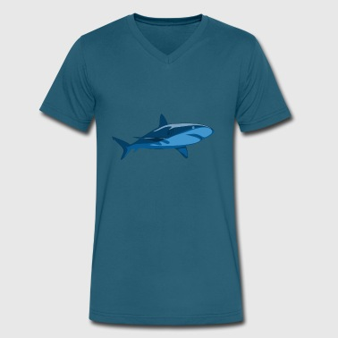 shark36 - Men's V-Neck T-Shirt by Canvas