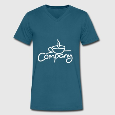 Company Coffee - Men's V-Neck T-Shirt by Canvas