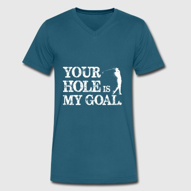 Hole Is My Goal Golf Golfing - Men's V-Neck T-Shirt by Canvas