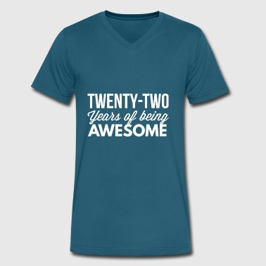 22 years of being awesome - Men's V-Neck T-Shirt by Canvas