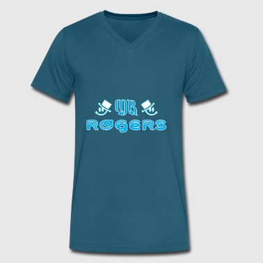 Mr Rogers Mr Rogers - Men's V-Neck T-Shirt by Canvas