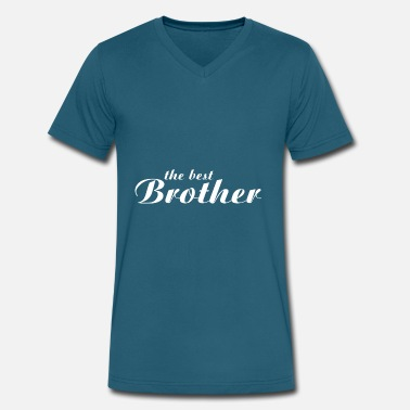 Worlds Best Brother The Best Brother - Men's V-Neck T-Shirt by Canvas