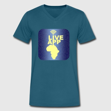Live App - Men's V-Neck T-Shirt by Canvas