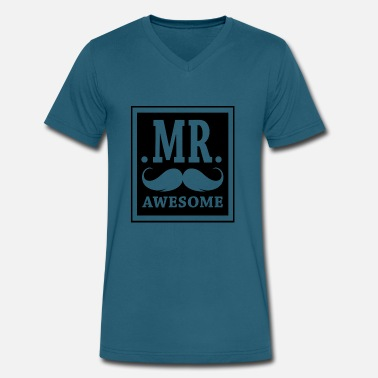 Mr Awesome Mr-Awesome - Men's V-Neck T-Shirt by Canvas
