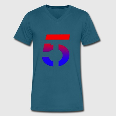 5 Rings Number 5 Shirt - Men's V-Neck T-Shirt by Canvas