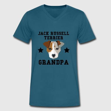 Jack Russell Terrier Grandpa Granddog - Men's V-Neck T-Shirt by Canvas