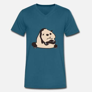 Panda Beard Panda bear - Men's V-Neck T-Shirt by Canvas