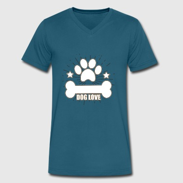 Dogged Dog Dog Dog Lover - Men's V-Neck T-Shirt by Canvas