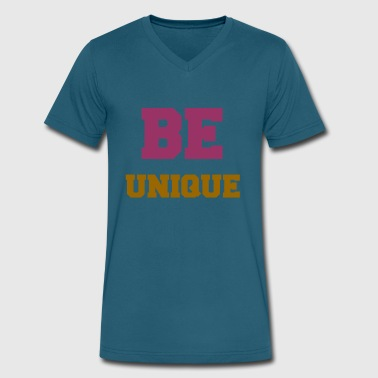 BE UNIQUE - Men's V-Neck T-Shirt by Canvas