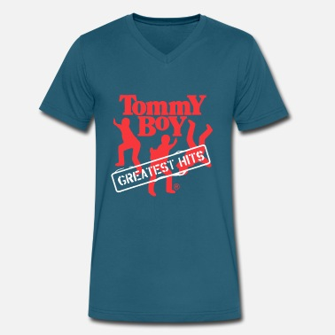 Tommy Boy Tommy Boy Entertainment Greatest Hits - Men's V-Neck T-Shirt by Canvas