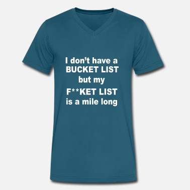 List Dog Fucket list - Men's V-Neck T-Shirt by Canvas