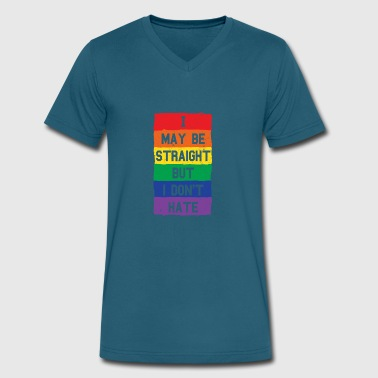 Hate Homosexual LGBT Gay Pride Homosexuality CSD - Men's V-Neck T-Shirt by Canvas