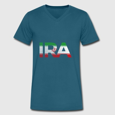 Iran - Men's V-Neck T-Shirt by Canvas