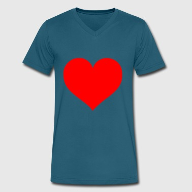 Cuore 2000px Love Heart SVG svg - Men's V-Neck T-Shirt by Canvas