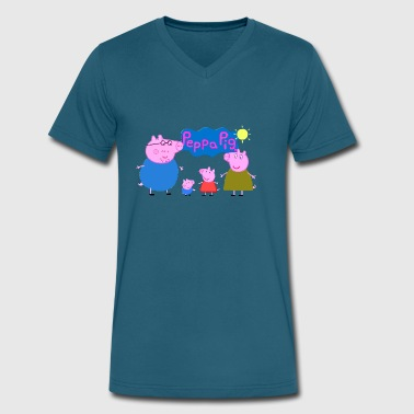 Mummy Pig peppa pig - Men's V-Neck T-Shirt by Canvas