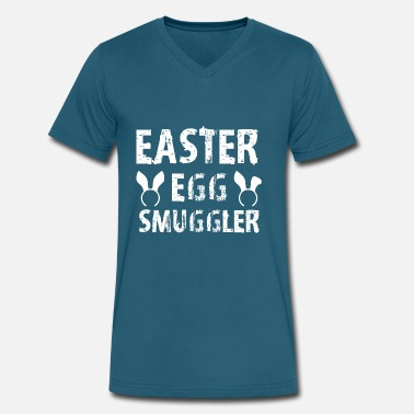 Smuggler Easter Egg Smuggler - Men's V-Neck T-Shirt by Canvas