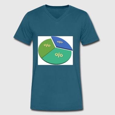 Pie Chart pie chart - Men's V-Neck T-Shirt by Canvas