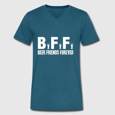 Bff Beer Friends Forever BFF Beer Friends Forever Shirt - Men's V-Neck T-Shirt by Canvas