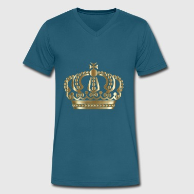 Gold Crown - Men's V-Neck T-Shirt by Canvas