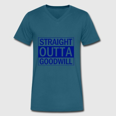 Goodwill Straight Outta Goodwill Blue - Men's V-Neck T-Shirt by Canvas