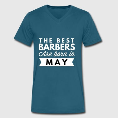 Best Barber The best Barbers are born in May - Men's V-Neck T-Shirt by Canvas