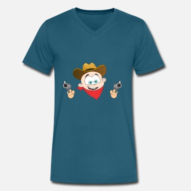Kidz Kidz Cowboy - Men's V-Neck T-Shirt by Canvas