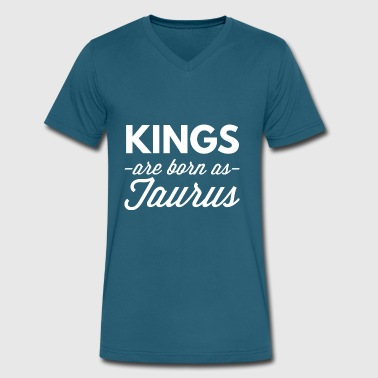 Kings are born as Taurus - Men's V-Neck T-Shirt by Canvas