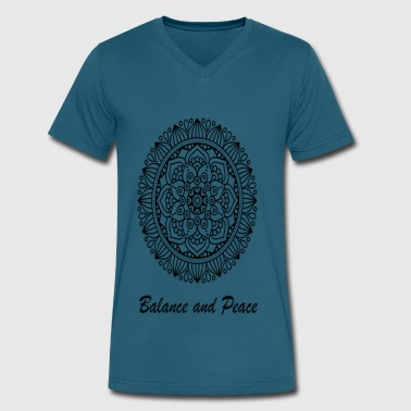 BALANCE AND PEACE - Men's V-Neck T-Shirt by Canvas