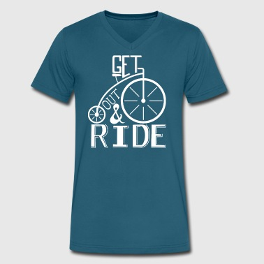 get out and ride - Men's V-Neck T-Shirt by Canvas