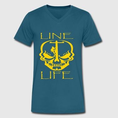 Line Life - Men's V-Neck T-Shirt by Canvas
